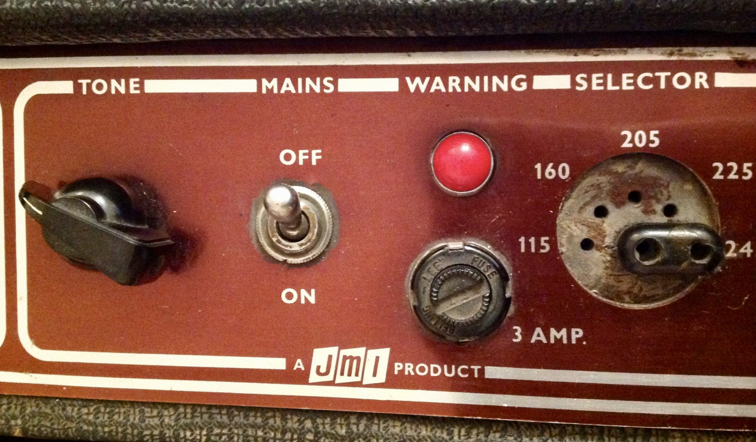 Vox AC30/6 Top panel mains selector image