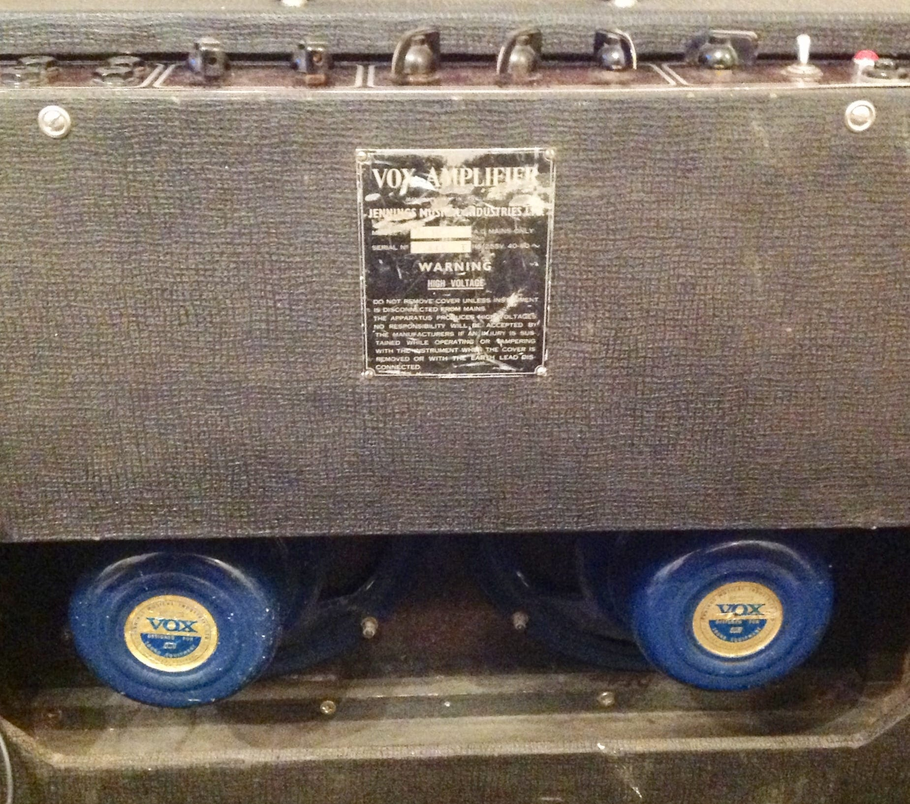 Vox AC30/6 Rear view image